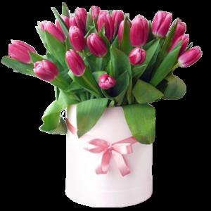 """Шляпная коробка с цветами """" Веселое настроение """""""