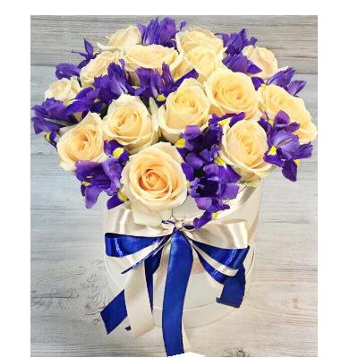 Шляпная коробка №5 Розы и Ирисы